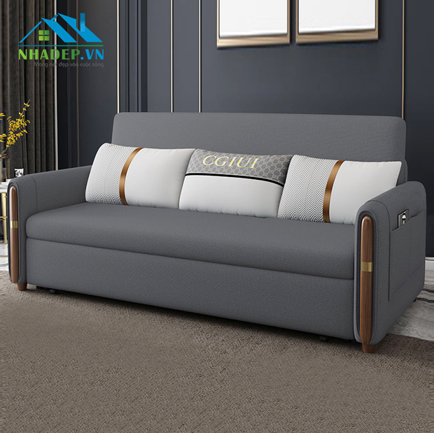 Sofa bed khung kim loại 2in1 FS124