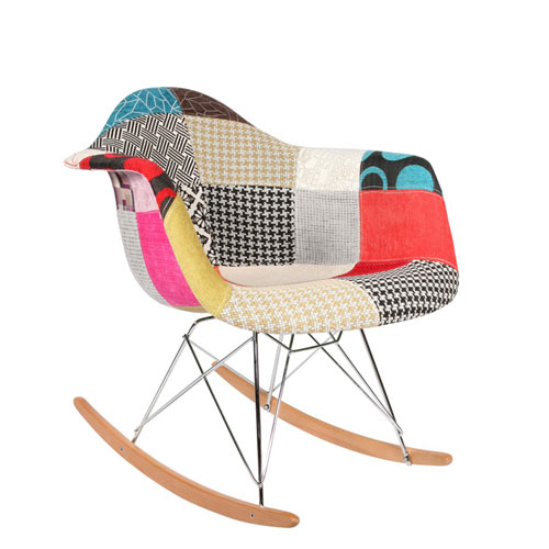 Ghế thư giãn Eames RAR Rocking Chair - Patchwork AS1619-2