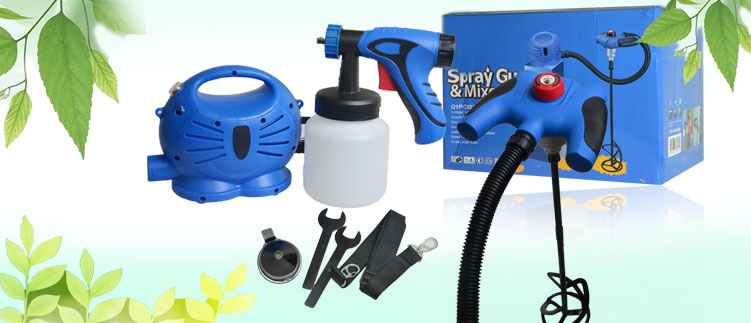 Máy phun sơn mini Spray Gun & Mixer Set Q1P-CX03-380A