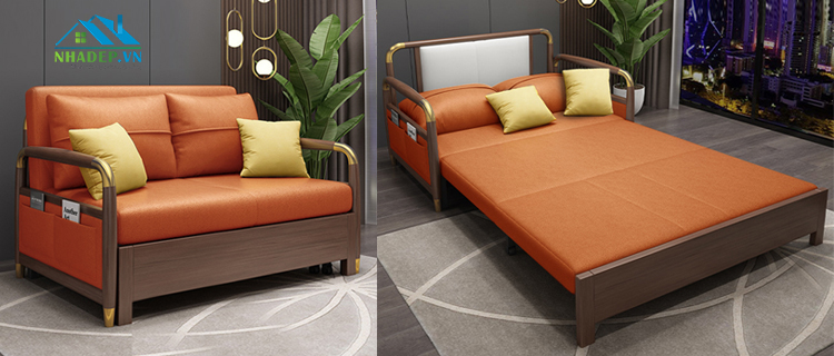 Sofa bed cao cấp Mid-Century Modern Style MF820-Gold